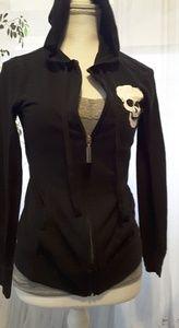 No Boundaries skull black hoodie jacket size S 3-5